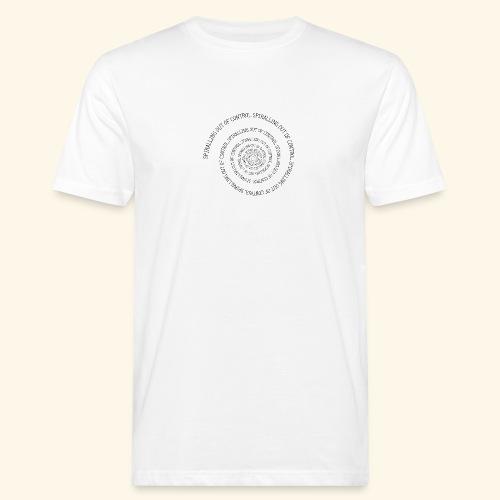SPIRAL TEXT LOGO BLACK IMPRINT - Men's Organic T-Shirt