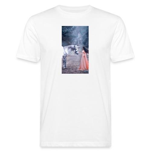 Unicornio con mujer bella - Camiseta ecológica hombre