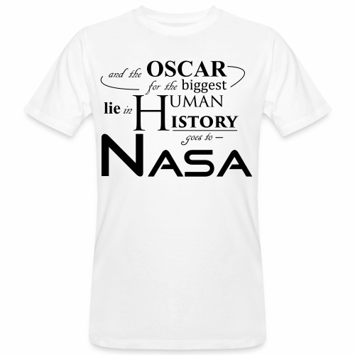 Flat Earth Nasa - Männer Bio-T-Shirt