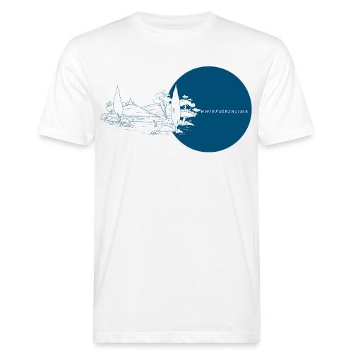 #wirfuersklima Landschaft mit Kreis - Männer Bio-T-Shirt