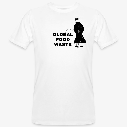 Pissing Man against Global Food Waste - Männer Bio-T-Shirt