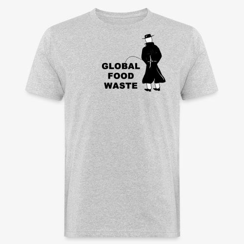 Pissing Man against Global Food Waste - Männer Bio-T-Shirt