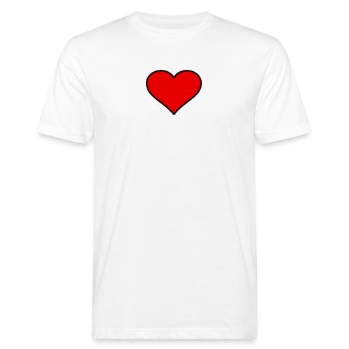 big heart clipart 3 - Ekologisk T-shirt herr