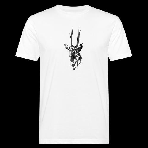Polygoon Hert - Mannen Bio-T-shirt