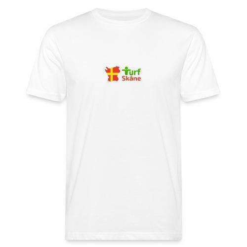 Turf Skåne Logo röd - Ekologisk T-shirt herr