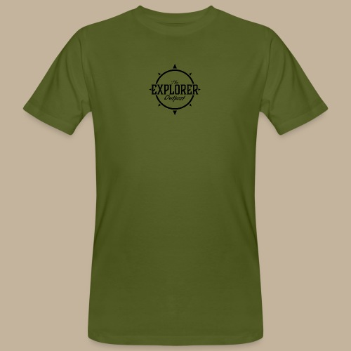 Black TEO Logo - Men's Organic T-Shirt
