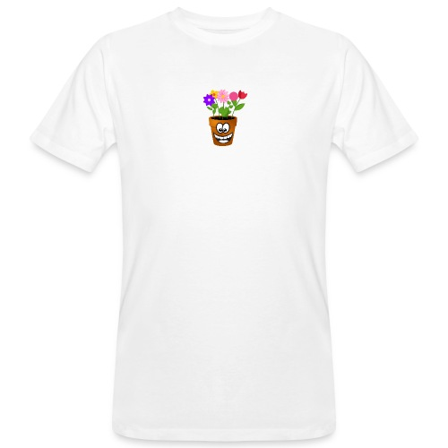Pot logo less detail - Mannen Bio-T-shirt