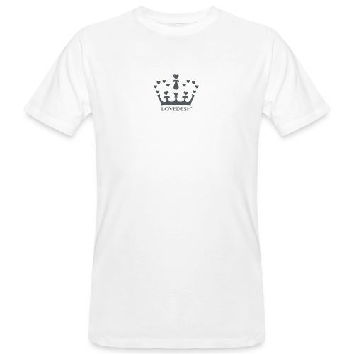 LD crown logo hearts png - Men's Organic T-Shirt