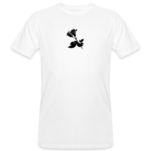Black and White Rose Bundle - Men's Organic T-Shirt