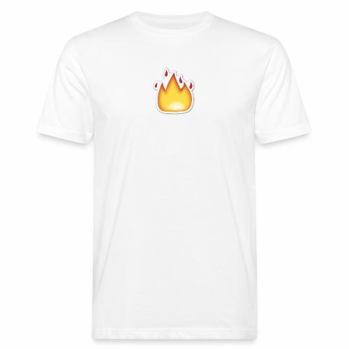 Liekkikuviollinen vaate - Miesten luonnonmukainen t-paita