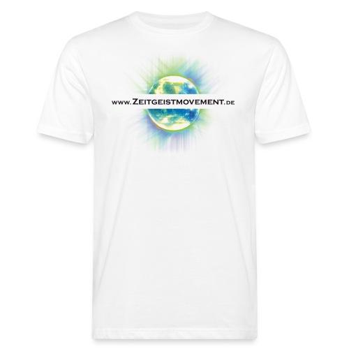 zeitgeist vorne weiss png - Männer Bio-T-Shirt
