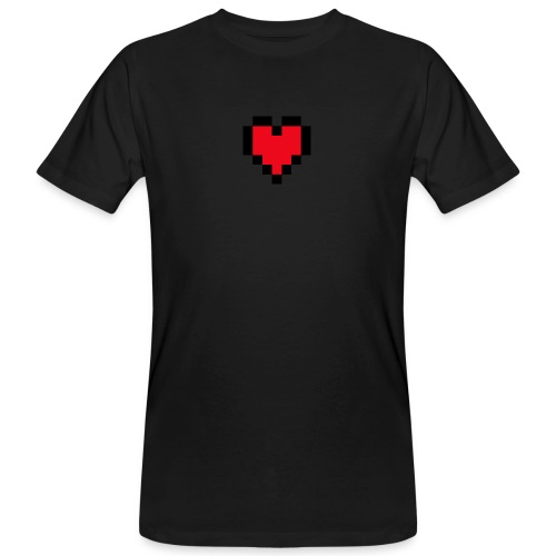 Pixel Heart - Mannen Bio-T-shirt