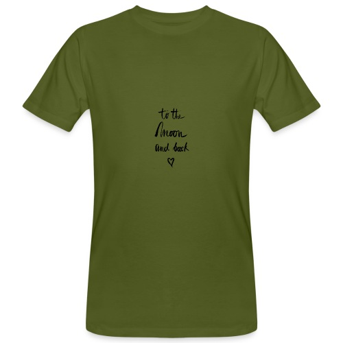 To the moon and back - Männer Bio-T-Shirt