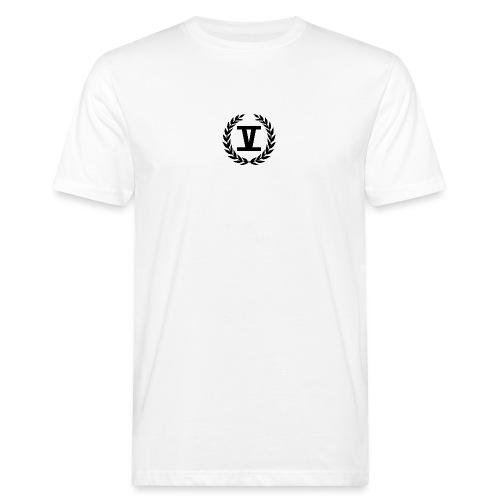 V Schwarz - Männer Bio-T-Shirt