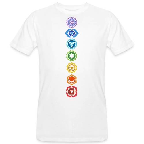The 7 Chakras, Energy Centres Of The Body - Men's Organic T-Shirt