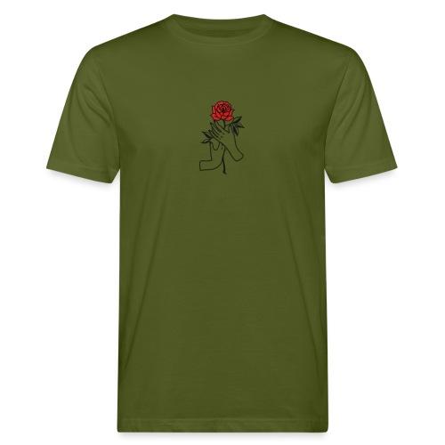 Fiore rosso - T-shirt ecologica da uomo