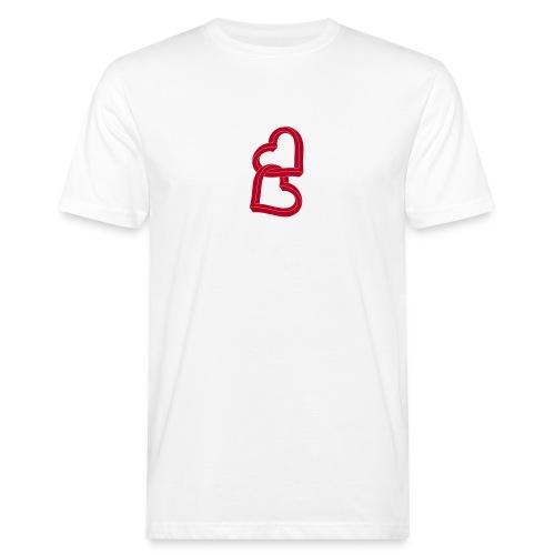 Due cuori uniti ca27 - T-shirt ecologica da uomo