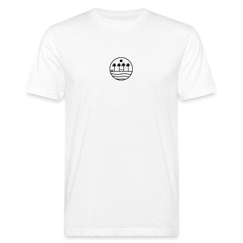 zon zee strand - Mannen Bio-T-shirt