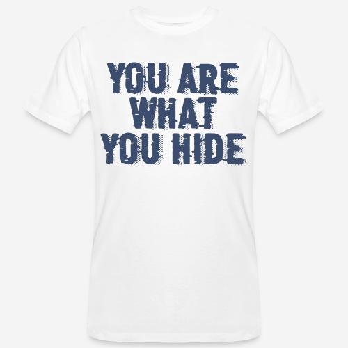 hide identity incognito - Männer Bio-T-Shirt