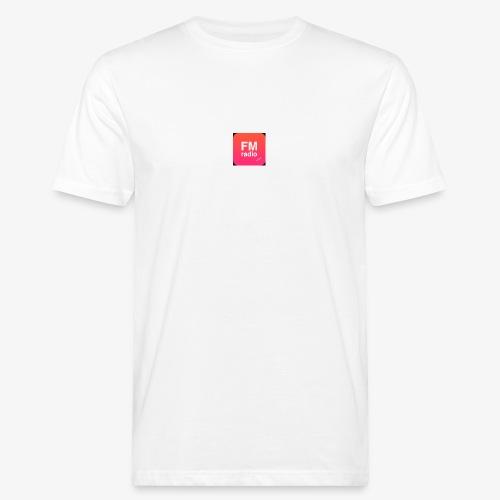 logo radiofm93 - Mannen Bio-T-shirt