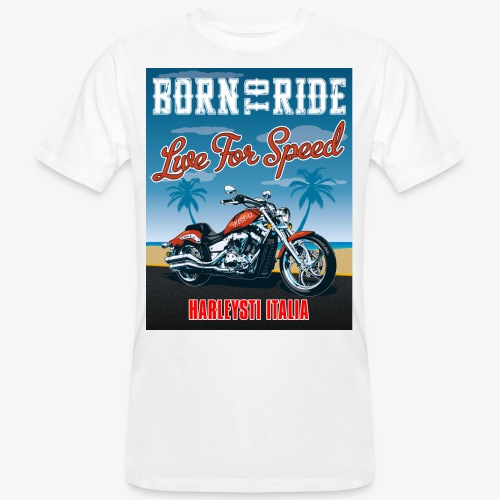 Summer 2021 - Born to ride - T-shirt ecologica da uomo