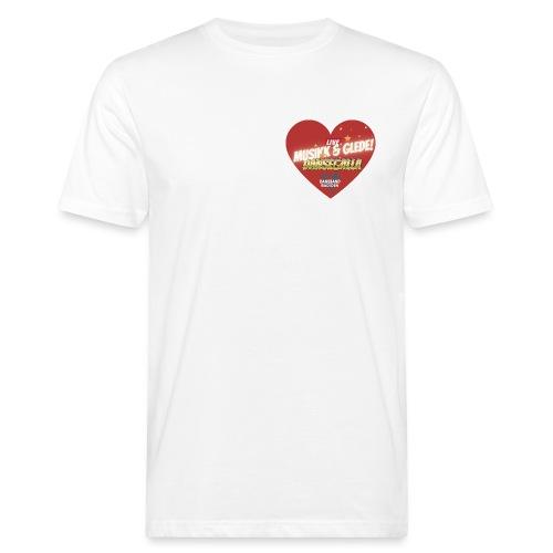 Musikk & Glede Hjertemotiv - Økologisk T-skjorte for menn