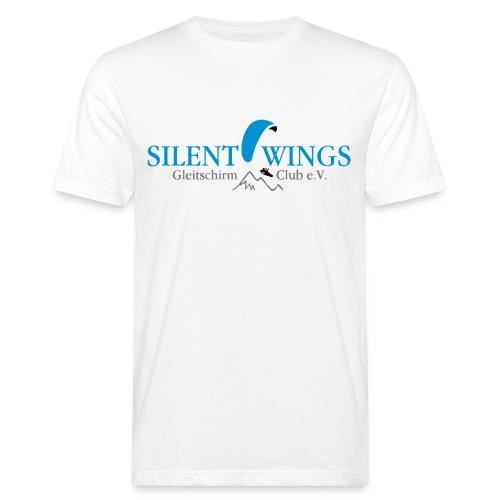 Silent Wings Logo 3 farbig - Männer Bio-T-Shirt