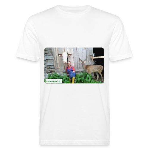SenSi ♥ Hilfsprojekt für Kühe - Männer Bio-T-Shirt