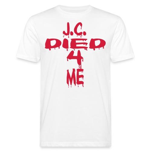 J.C.Died 4 Me - Cross - Männer Bio-T-Shirt