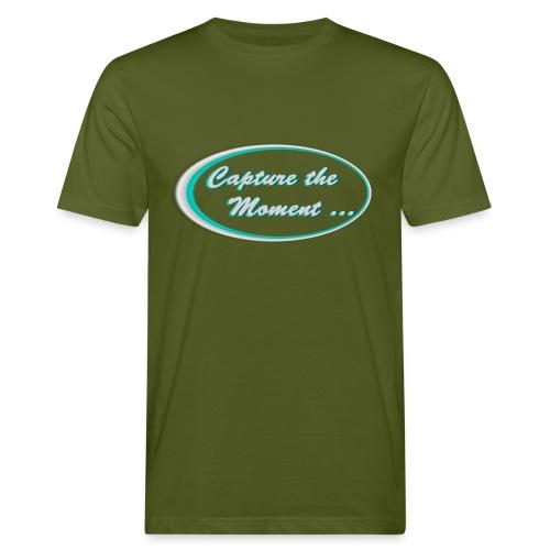 Logo capture the moment photography slogan - Men's Organic T-Shirt