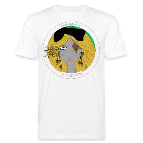 Six of Cups | Sechs der Kelche Tarot Karte - Männer Bio-T-Shirt