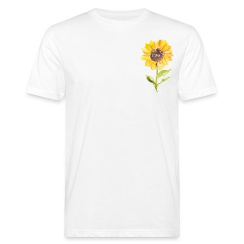 Sonnenblume Sunflower - Männer Bio-T-Shirt