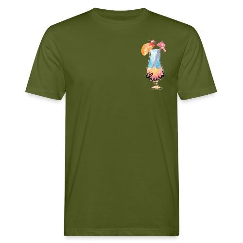 Cheers Cocktail Rainbow Swimming Pool - Männer Bio-T-Shirt