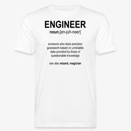 Engineer Def. 1 (Black) - T-shirt bio Homme