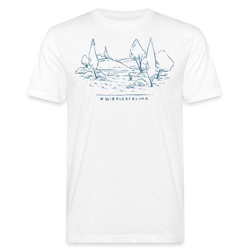 #wirfuersklima Landschaft - Männer Bio-T-Shirt