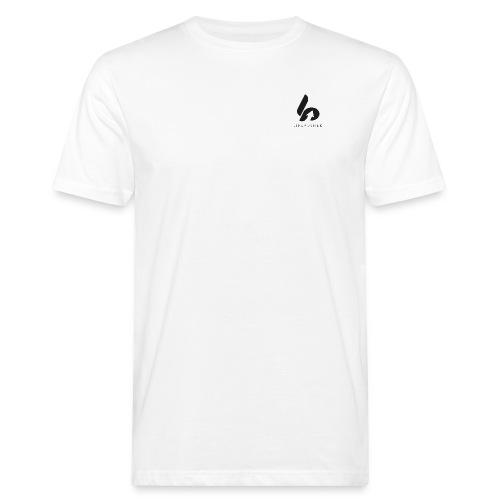 Lifepusher Logo Schwarz mit Text - Männer Bio-T-Shirt