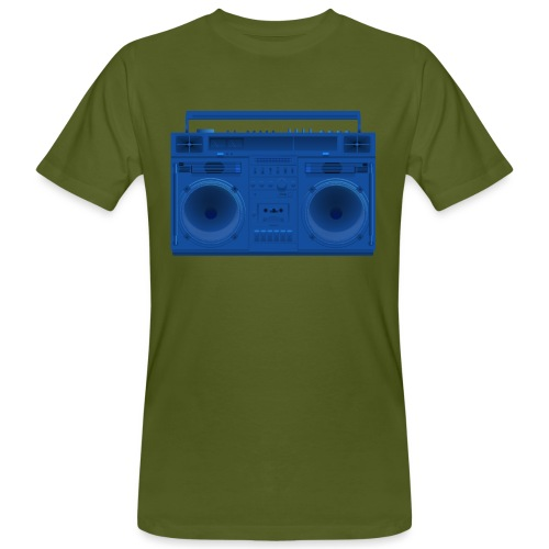Bestes Stereo blau Design online - Männer Bio-T-Shirt