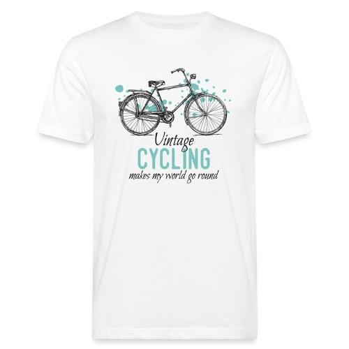 Retro Style Vintage Fahrrad Zeichnung - Männer Bio-T-Shirt