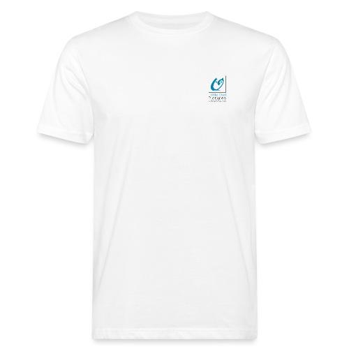 Little Owl Pictures Logo (schwarz/blau) - Männer Bio-T-Shirt