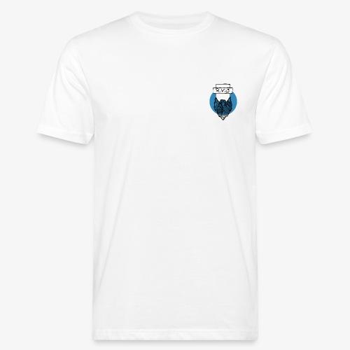 LogoCircle-blue - Männer Bio-T-Shirt