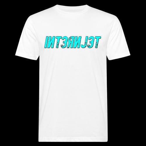 Internjet cyan - Miesten luonnonmukainen t-paita