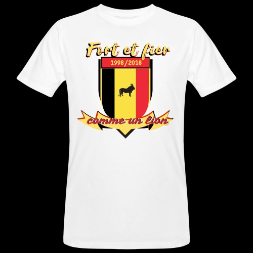 belgique foot coupe du monde - T-shirt bio Homme