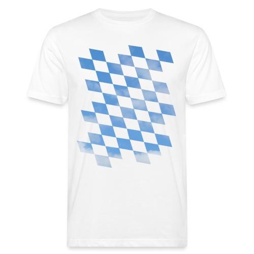 Himmlische Bayern Rauten Bayerische Fahne - Männer Bio-T-Shirt