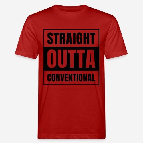 straight outta conventional - Männer Bio-T-Shirt