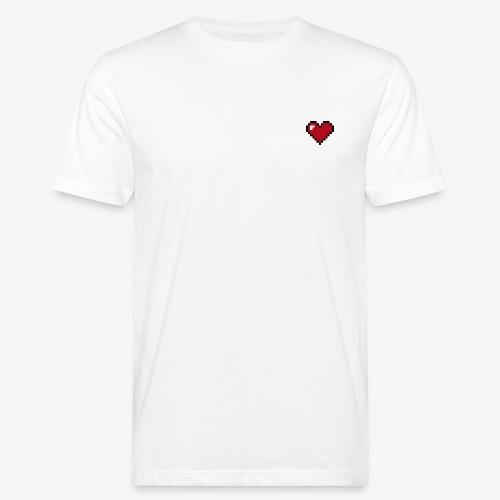 Pixel heart - T-shirt bio Homme