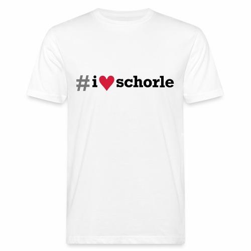 # I love Schorle - Männer Bio-T-Shirt