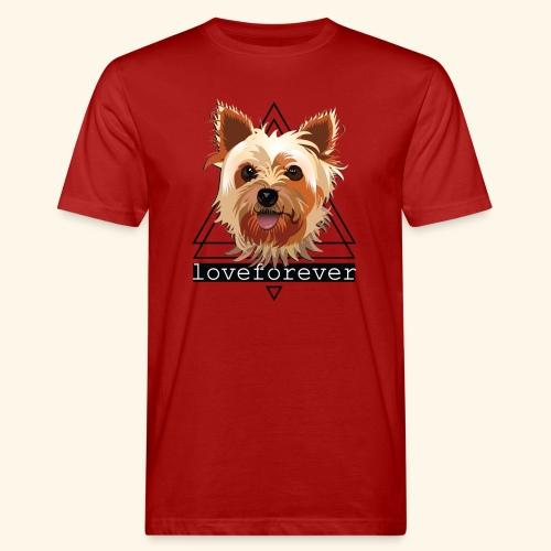 YORKIE LOVE FOREVER - Camiseta ecológica hombre