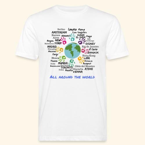 All around the world uomo - T-shirt ecologica da uomo