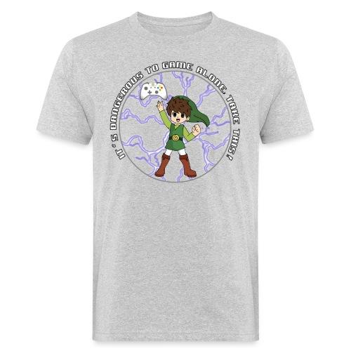 Dangerous To Game Alone - Men's Organic T-Shirt