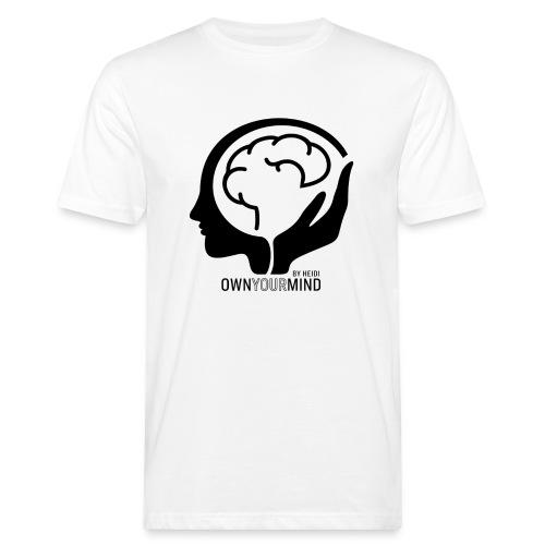 Own Your Mind logotyp svart - Ekologisk T-shirt herr